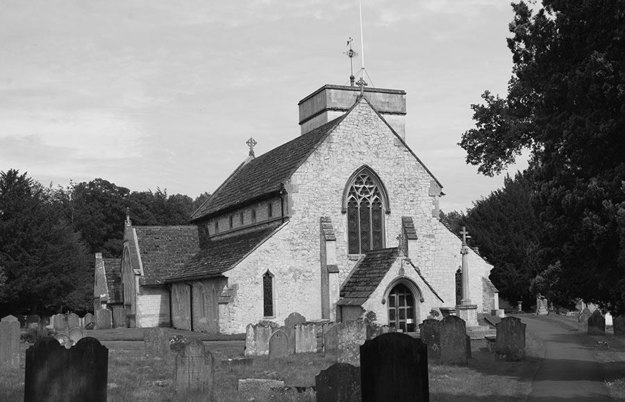 Image of Betchworth Church - black and white
